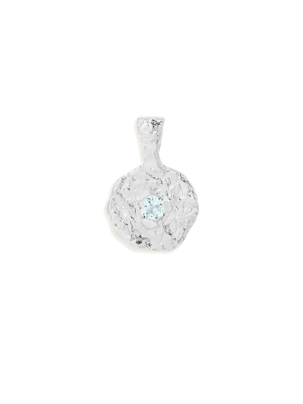 March Aquamarine Birthstone Pendant - Silver Accessories By Charlotte
