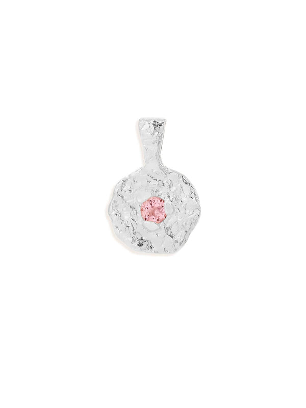 By Charlotte October Tourmaline Birthstone Pendant Silver | Perlu