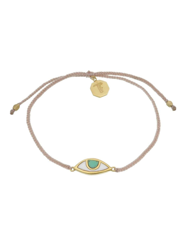 Woven Third Eye Bracelet | Gold - Pale Pink