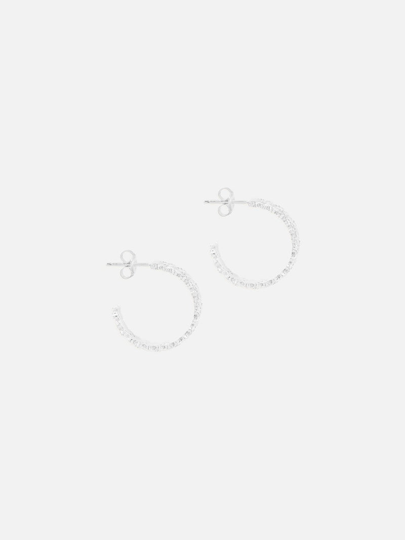 By Charlotte Dream Weaver Hoops Silver | Perlu