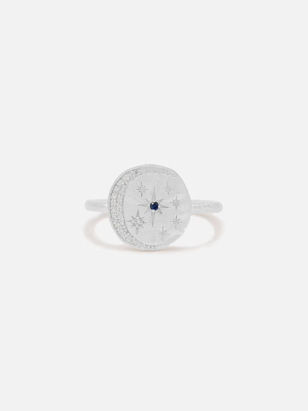 By Charlotte Moonlight Ring Silver | Perlu