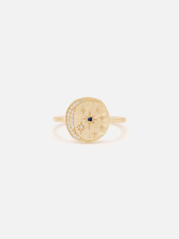 By Charlotte Heavenly Moonlight Ring Gold | Perlu