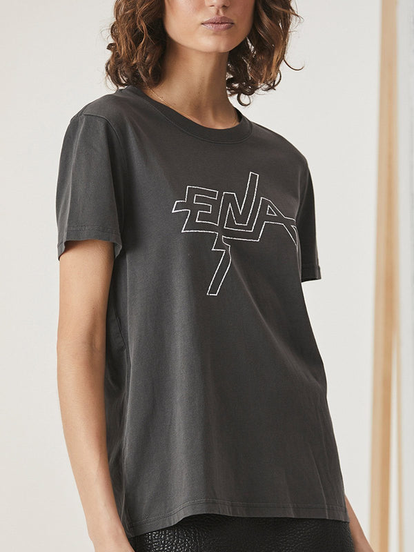Ena Pelly Graphic Tee Faded Black | Perlu