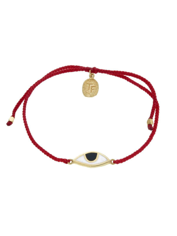 Woven Third Eye Bracelet | Gold - Red