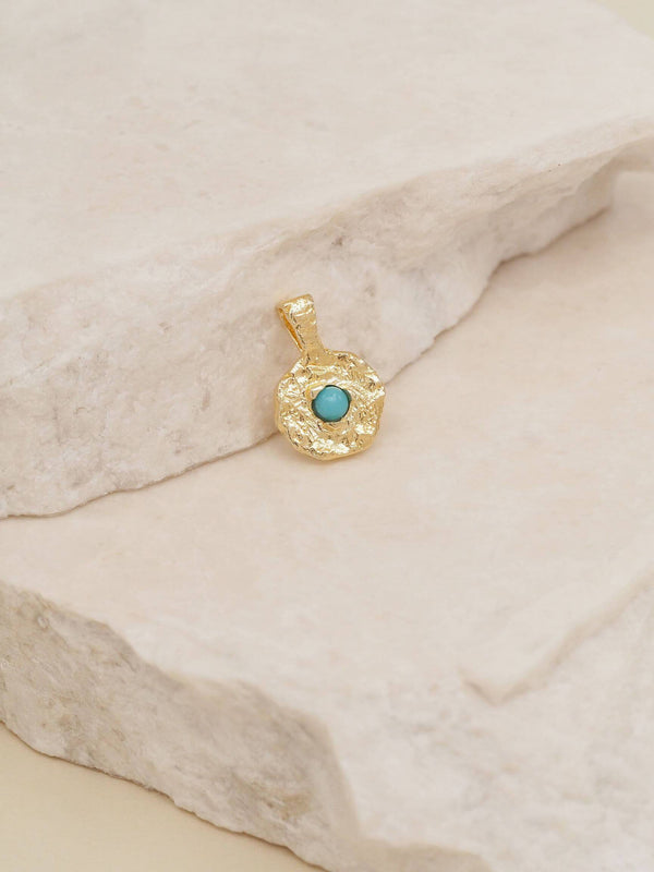 By Charlotte December Turquoise Birthstone Pendant | Perlu