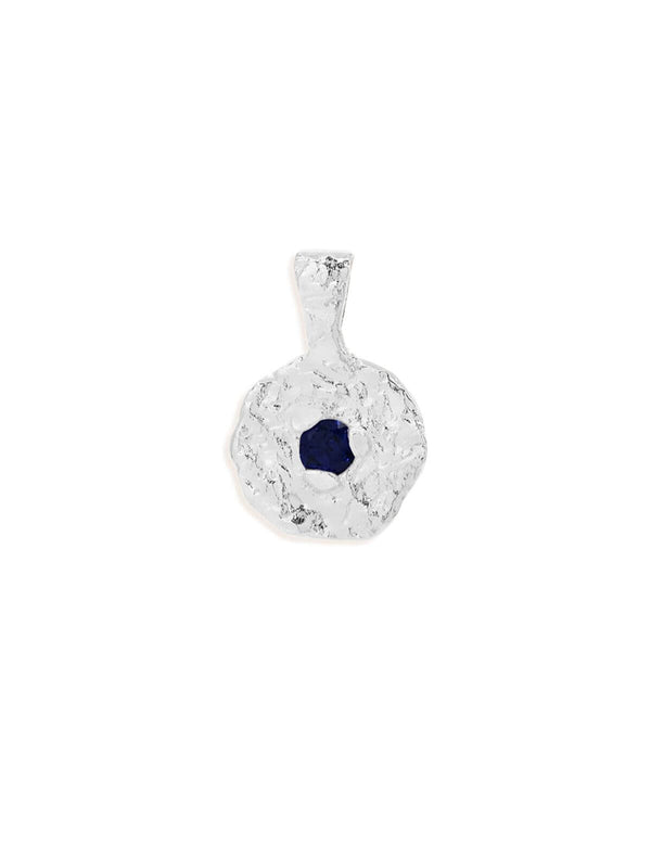By Charlotte September Sapphire Birthstone Pendant Silver | Perlu