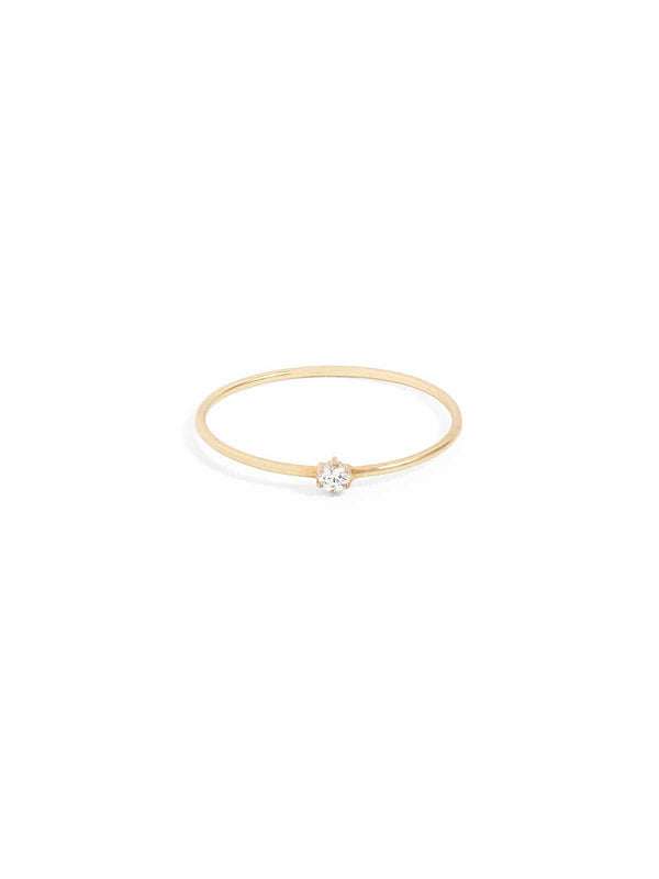 By Charlotte I 14k Gold Sweet Droplet Diamond Ring I Perlu