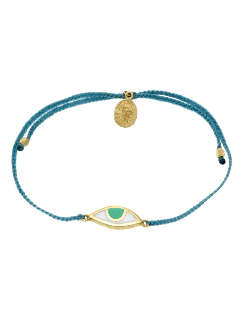 Woven Third Eye Bracelet | Gold - Teal Green