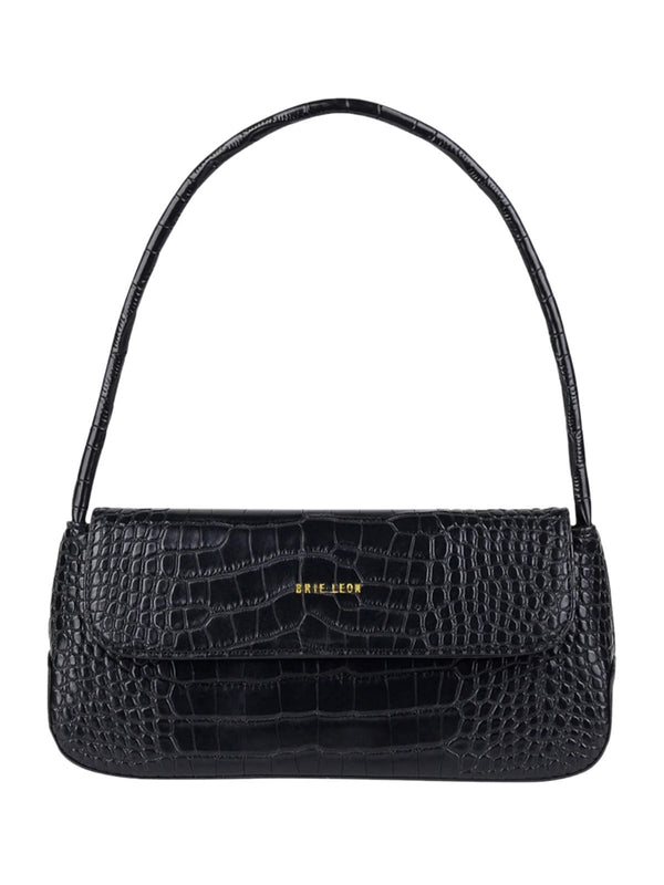 The Camille Bag - Matte Black Croc Bags & Purses Brie Leon