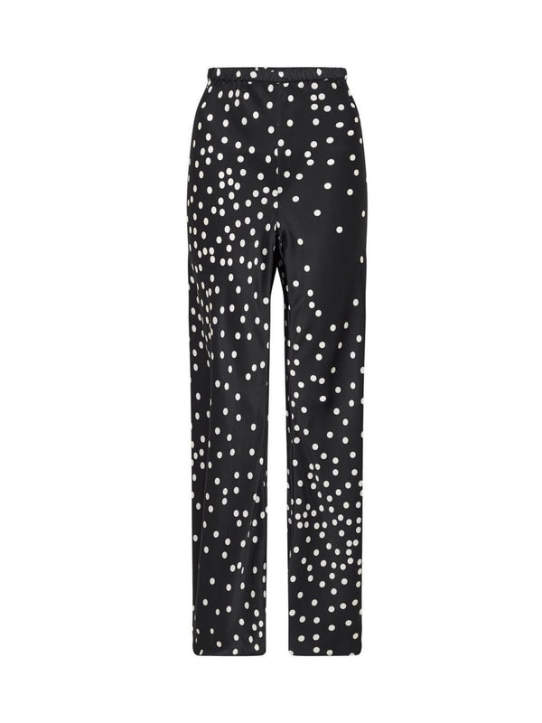 Bias Cut Pants - Broken Dot Pants Silk Laundry