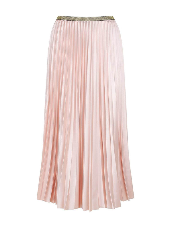 Bande Studio Posy Pleated Satin Skirt Champagne Pink | Perlu