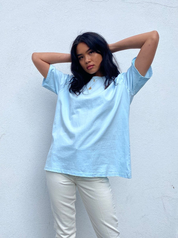 Boyfriend T-Shirt - Blue Tops BAYSE