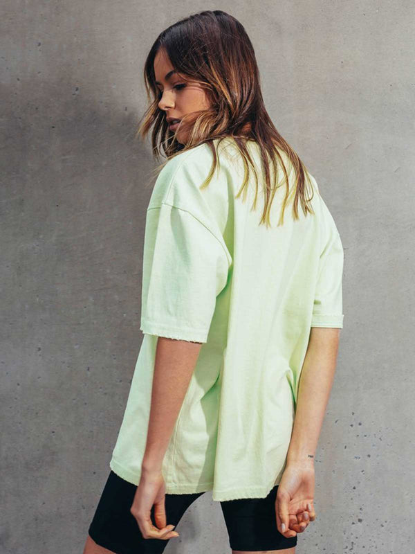Boyfriend T-Shirt - Green Tops BAYSE