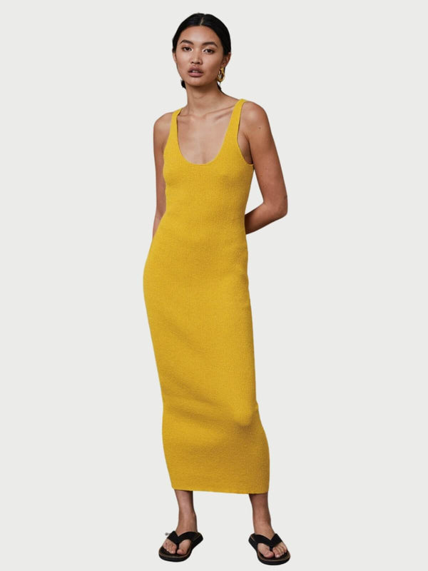 Bec + Bridge Bowie Midi Dress Mustard | Perlu