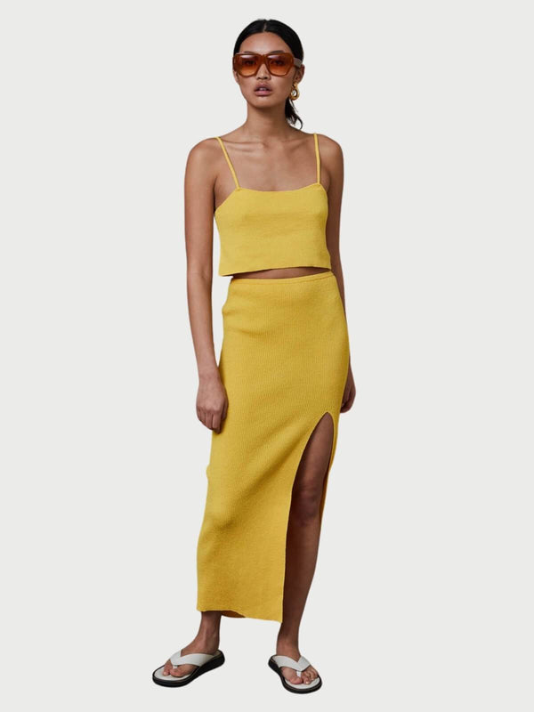 Bec + Bridge Bowie Skirt Mustard | Perlu