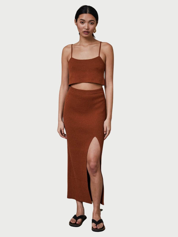 Bec + Bridge Bowie Skirt Rust | Perlu