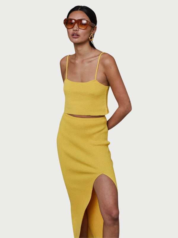 Bowie Top - Mustard Tops Bec + Bridge