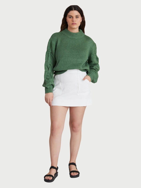 Bec + Bridge | Celeste Knit Jumper - Jade Green | Perlu