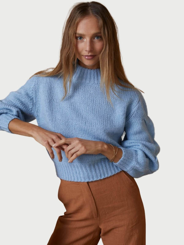 Bec + Bridge Celeste Knit Jumper Sky Blue | Perlu