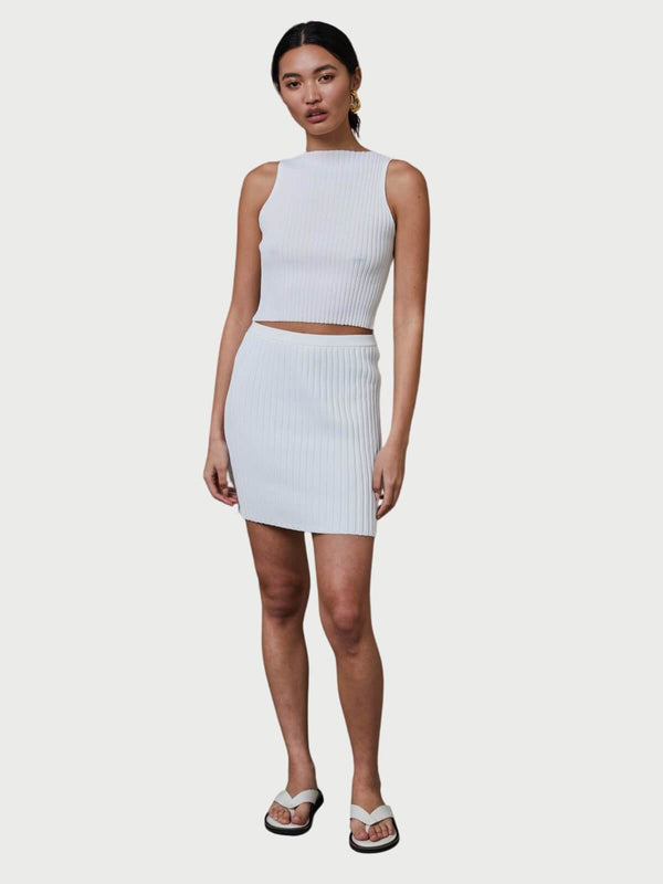 Bec + Bridge Deja Vu Mini Skirt Ivory | Perlu