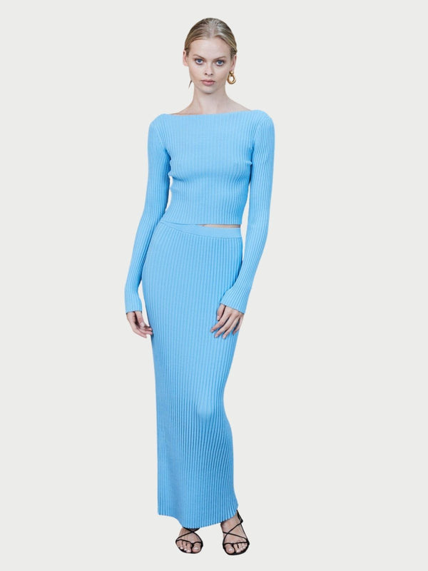 Bec + Bridge Eden Pleated Maxi Skirt Azure | Perlu