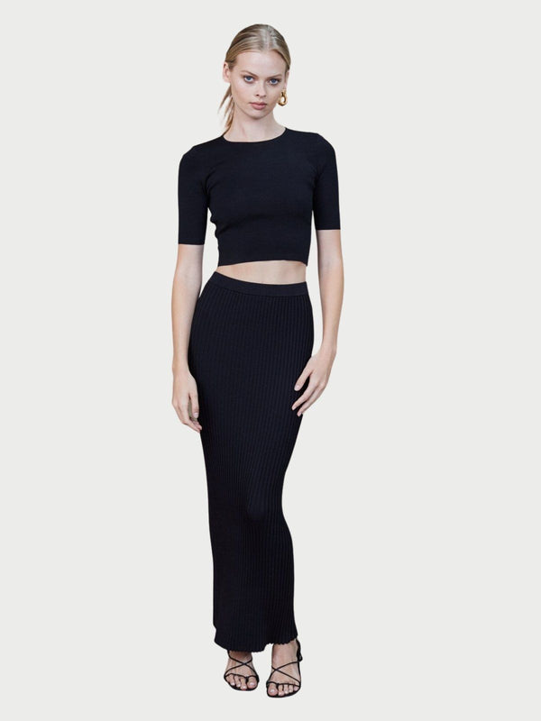 Bec + Bridge Eden Pleated Maxi Skirt Black | Perlu
