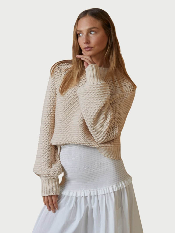 Bec + Bridge Elsa Knit Jumper Pumice | Perlu