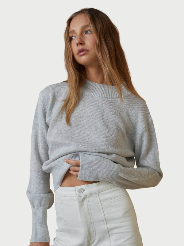 Bec + Bridge Eva Knit Jumper Grey Marle | Perlu