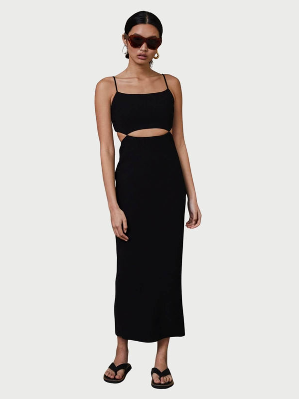 Bec + Bridge Faye Midi Dress Black | Perlu