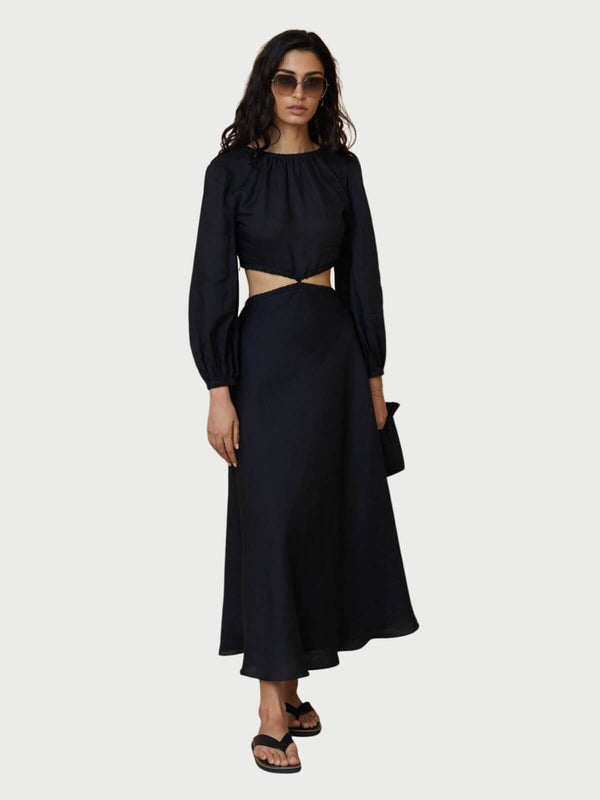 Bec + Bridge Madeleine Midi Dress Black | Perlu