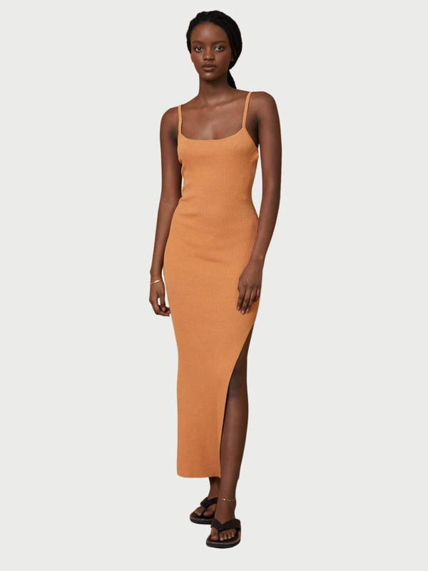 Bec + Bridge Margot Knit Midi Dress - Nutmeg | Perlu