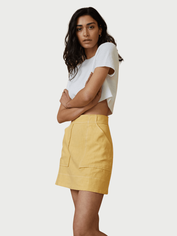 Bec + Bridge Olivier Mini Skirt Honey | Perlu