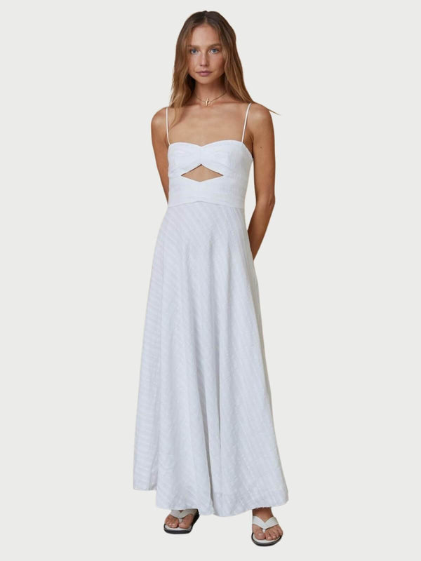 Bec + Bridge Provincial Maxi Dress - Ivory | Perlu