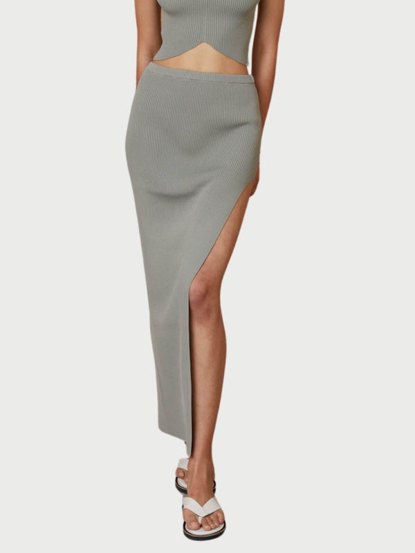 Bec + Bridge | Versailles Knit Midi Skirt - Sage | Perlu