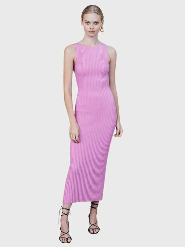 Bec + Bridge White Water Midi Dress - Bubblegum | Perlu