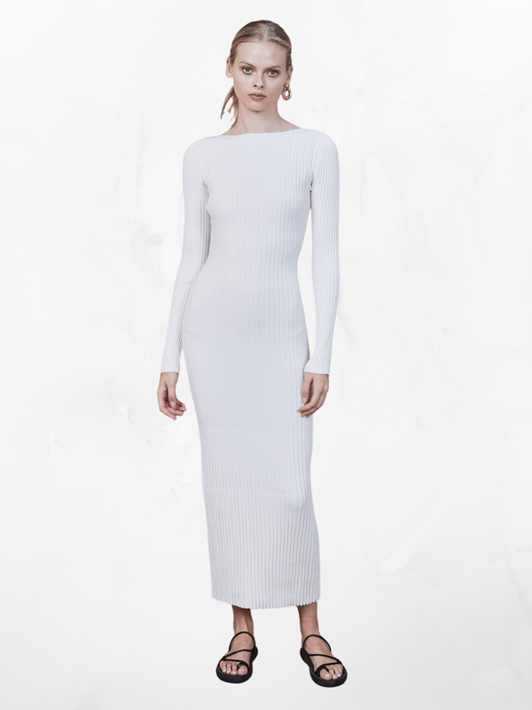 Bec + Bridge Adele Midi Dress Pearl | Perlu
