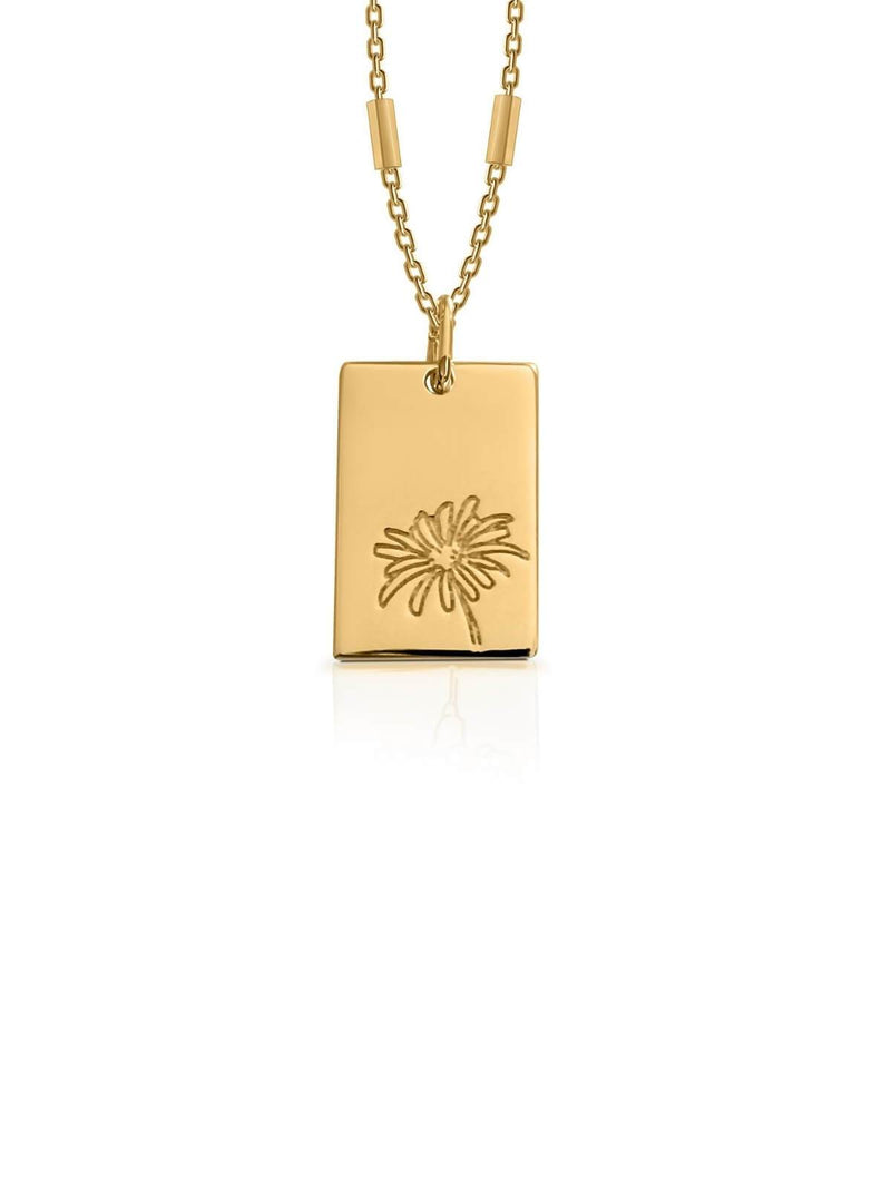 Bianko Birth Flower Necklace April - Gold | Perlu