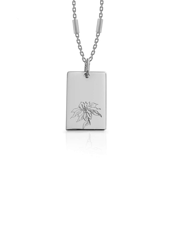 Bianko Birth Flower Necklace Silver | Perlu