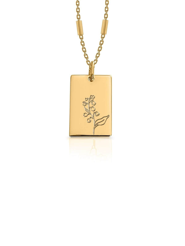 Bianko Birth Flower Necklace May - Gold | Perlu