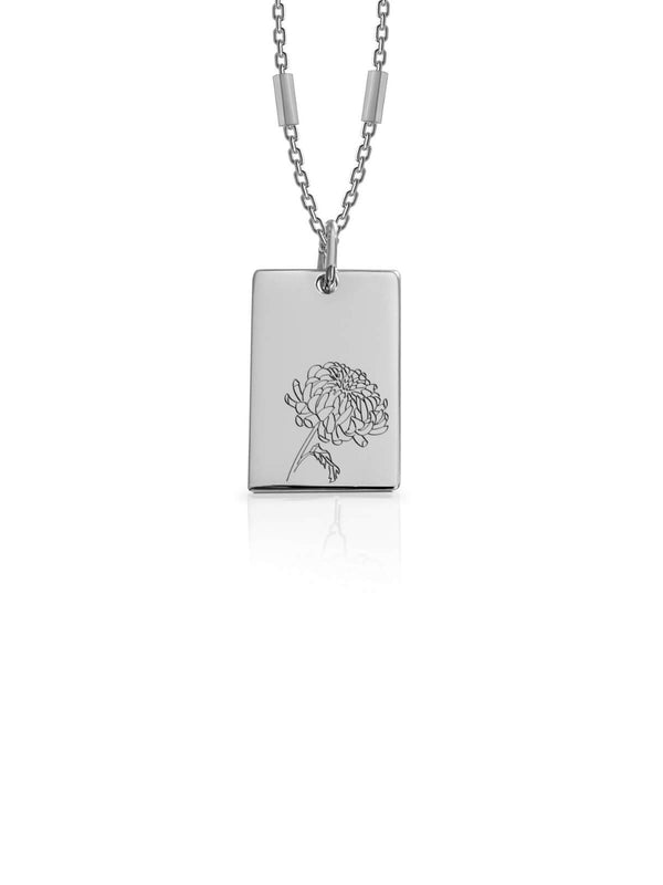 Bianko Birth Flower Necklace November Silver | Perlu