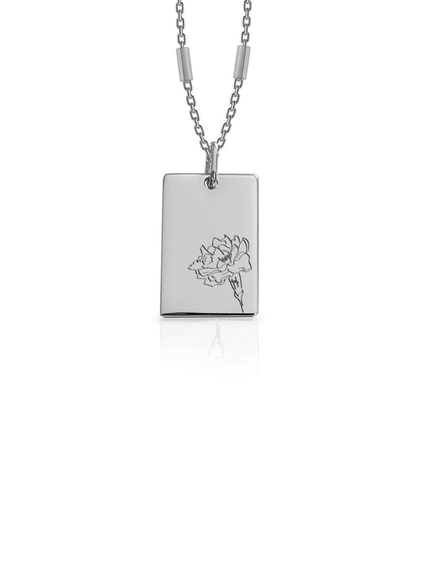 Bianko Birth Flower Necklace October Silver | Perlu