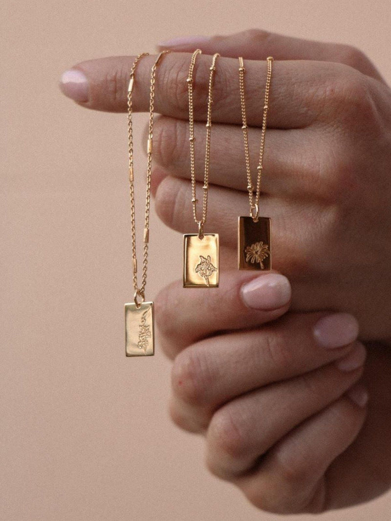Birth Month Necklace - September - Gold