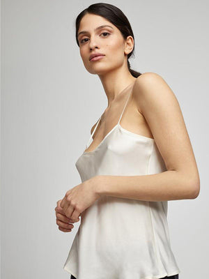 Silk Laundry | Bias Cut Cami - Ivory | Perlu |