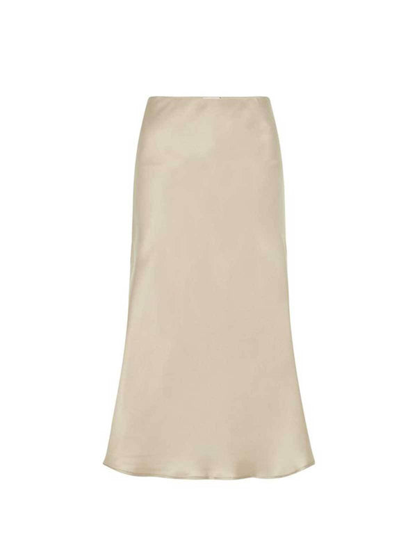 Silk Laundry Bias Cut Skirt Aluminium | Perlu