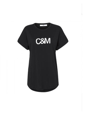 Camilla and Marc Huntington Logo Slub Tee | Camilla and Marc C&M | Perlu.