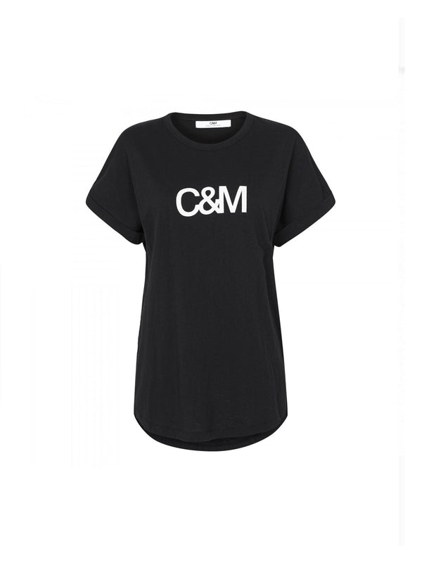 Camilla and Marc C&M Huntington Logo Slub Tee - Black | Perlu
