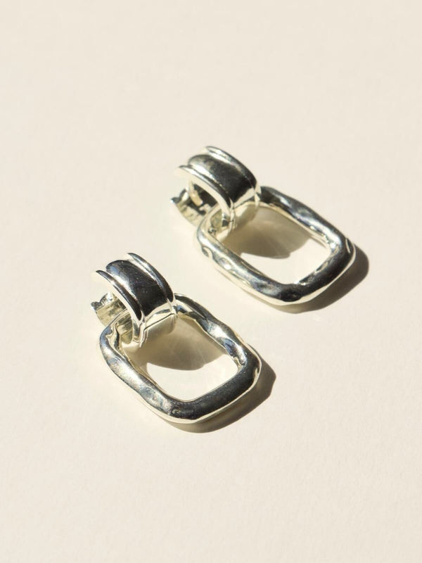 Brie Leon Clasica Earrings Silver | Perlu