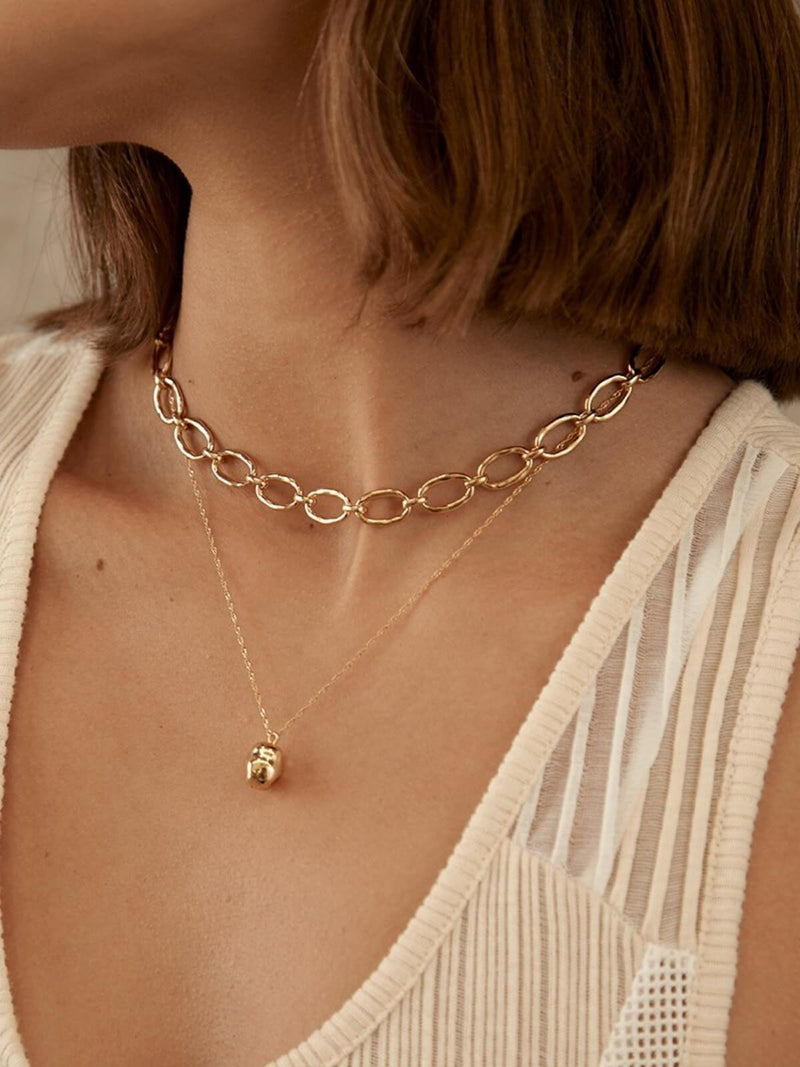 Brie Leon | Link Chain Necklace - Gold | Perlu
