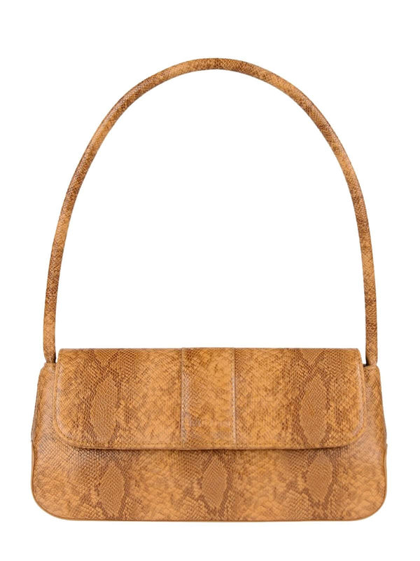 Brie Leon The Camille Bag Desert Orange Snakeskin | Perlu