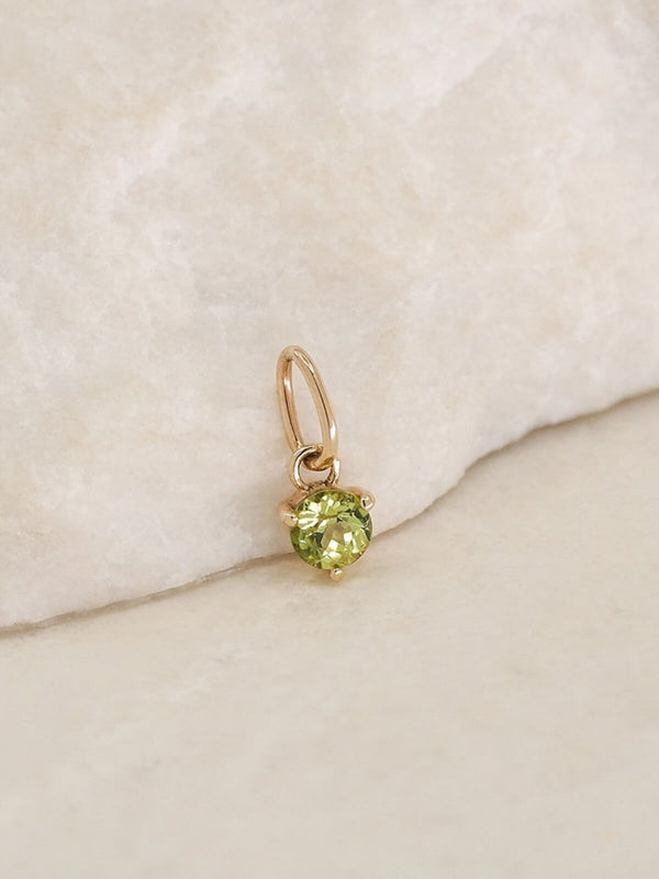By Charlotte | 14K Gold August Birthstone Pendant | Perlu